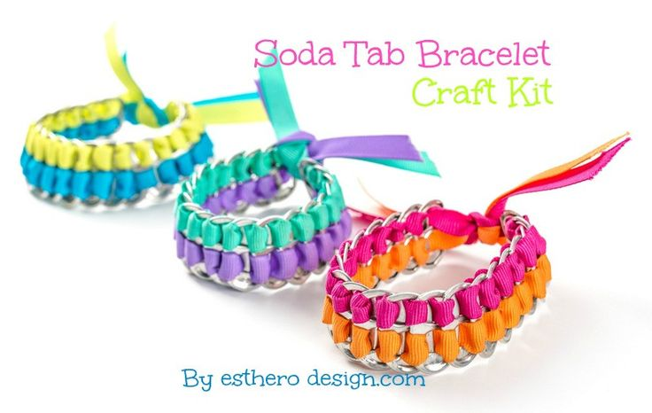 There is no doubt about it that recycling is a noble cause. Show the world that recycling is cool with this environmentally friendly craft. This neat bracelet recycles the tab from the tops of soda ca