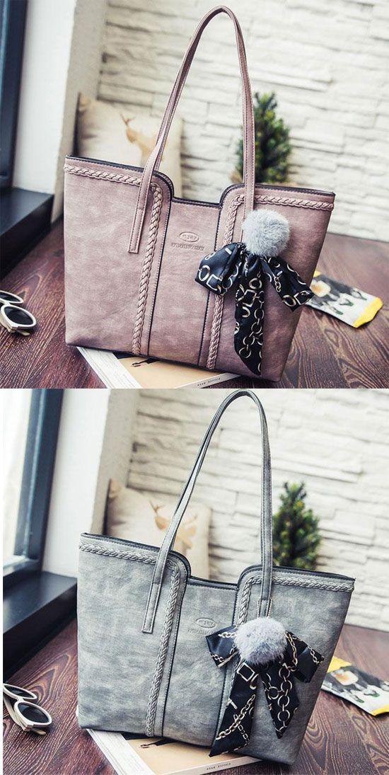 89dae0f5f5 Retro Girl s PU Whole Color Sewing Thread Weave Shoulder Bag Handbag   handbag  school  college