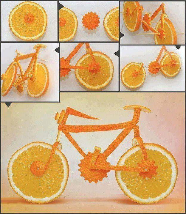 Orange bike.   Gloucestershire Resource Centre http://www.grcltd.org/scrapstore/