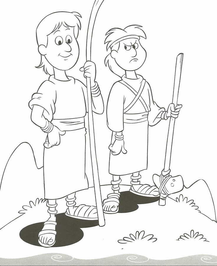 Cain And Abel Coloring Page Beautiful Testament Cain And Abel Cain