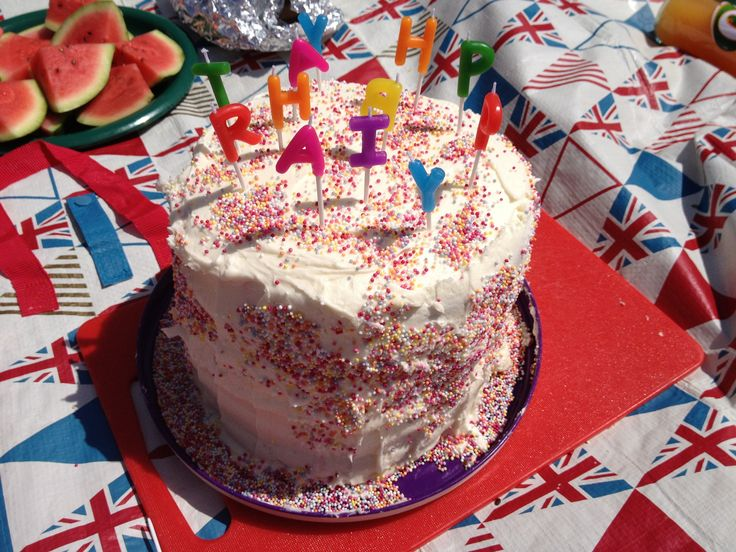 1st rainbow cake for 14 th girls birthday