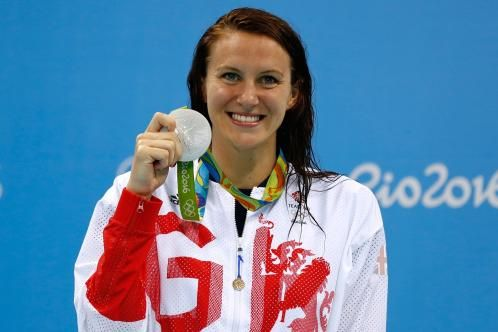 Having missed the 2012 Games, Carlin claimed silver in the 400m freestyle