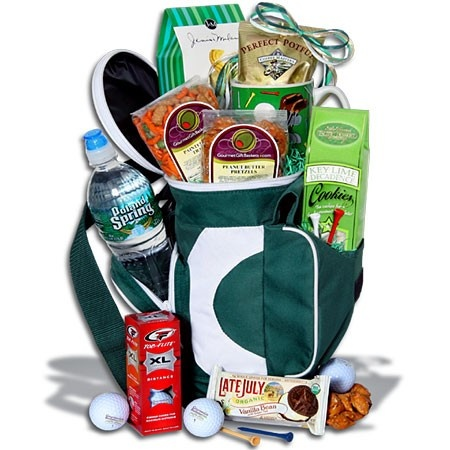 golf gift basket idea: