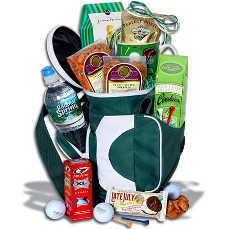 golf gift basket idea: