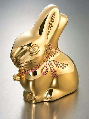 Most expensive Easter bunny in the World (created from 24-karat gold).