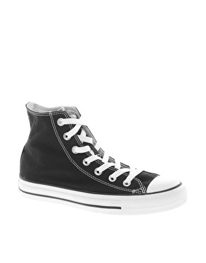 Enlarge Converse All Star Double Tongue Black High Top Trainers