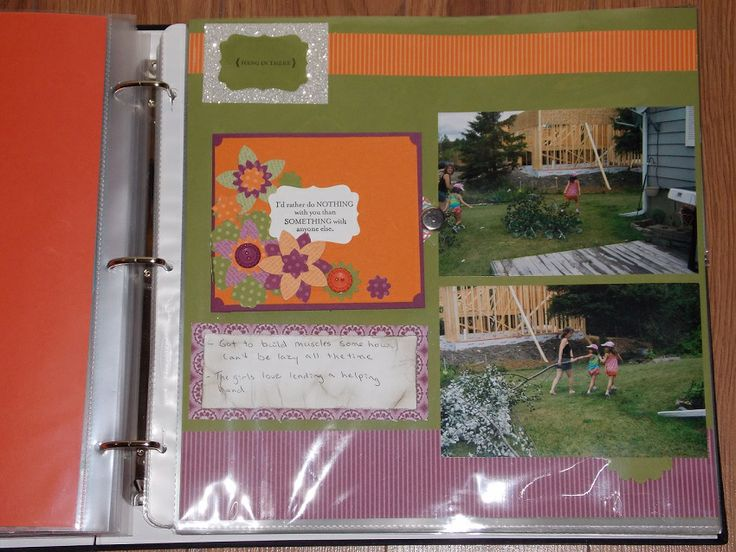 Page with flip pocket closed All products used to make this card are from Stampin Up!