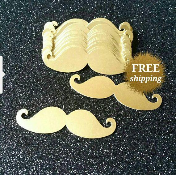 Mustache Confetti Little Man Mustache Gold Confetti  Baby Shower Confetti Little Man Party Mustache Party Gold Mustache Party Decor