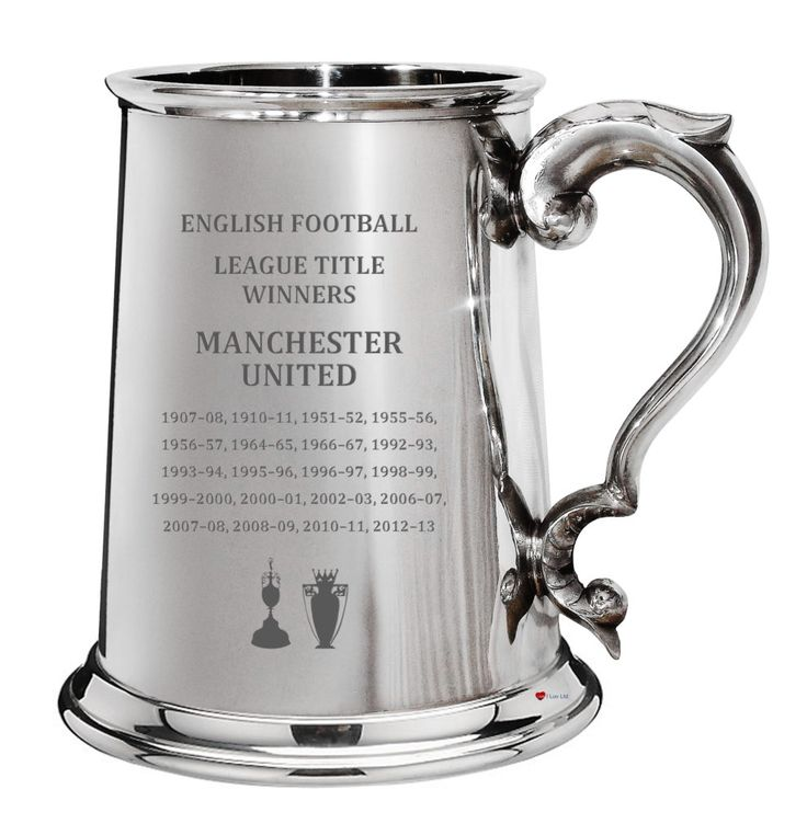 20 times 20 times Man United!  Manchester United fans will love our exclusive beautifully hand-engraved Pewter Tankards, Hip Flasks and Shields.   Made in Sheffield, England. We ship worldwide.  #ManUtd #Gift #League #Champions #20Times #Pewter #Tankard #FathersDay #Christmas #Birthday #MUFC