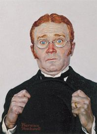 Norman Rockwell's Portrait Red Buttons for the movie Stagecoach