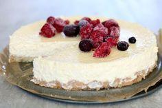 Koolhydraatarme glutenvrije en suikervrij Griekse Yoghurt taart!