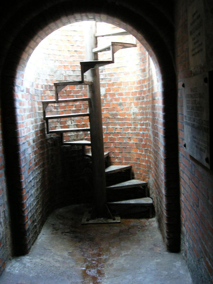 """Enterance to the underground Museum of the """"Dętka"""" Canal (old underground water tank)."""