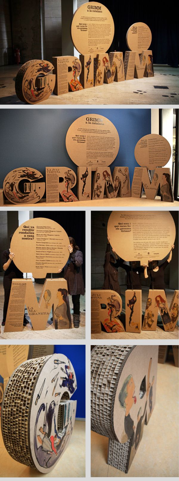 Grimm by Núria Farrés, via Behance. A brilliant use of printed board for art!