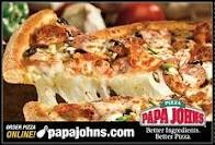 Pappa John's Pizza is the best!!