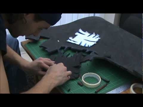 2B - (cutting the foam) Foam Pepakura Iron Man Suit/Armor explanation