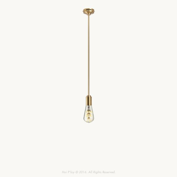 The Unity Pendant is a minimal yet elegant interpretation of the traditional exposed pendant light. The stem is machined from solid brass along with all the custom designed components that make up this beauty. It is available in various stem lengths.  The Unity Pendant is made from solid brass in Cape Town.  Note : Unity Pendant orders will be dispatched in September 2016