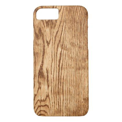Chic Rustic Faux Wood Country Texture iPhone 8/7 Case - country wedding gifts marriage love couples diy customize