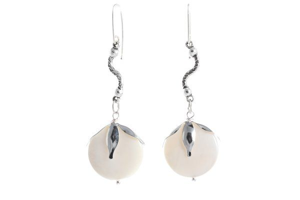 Blooming Seashells Earrings | Red Reticule Collection Handmade with Seashells