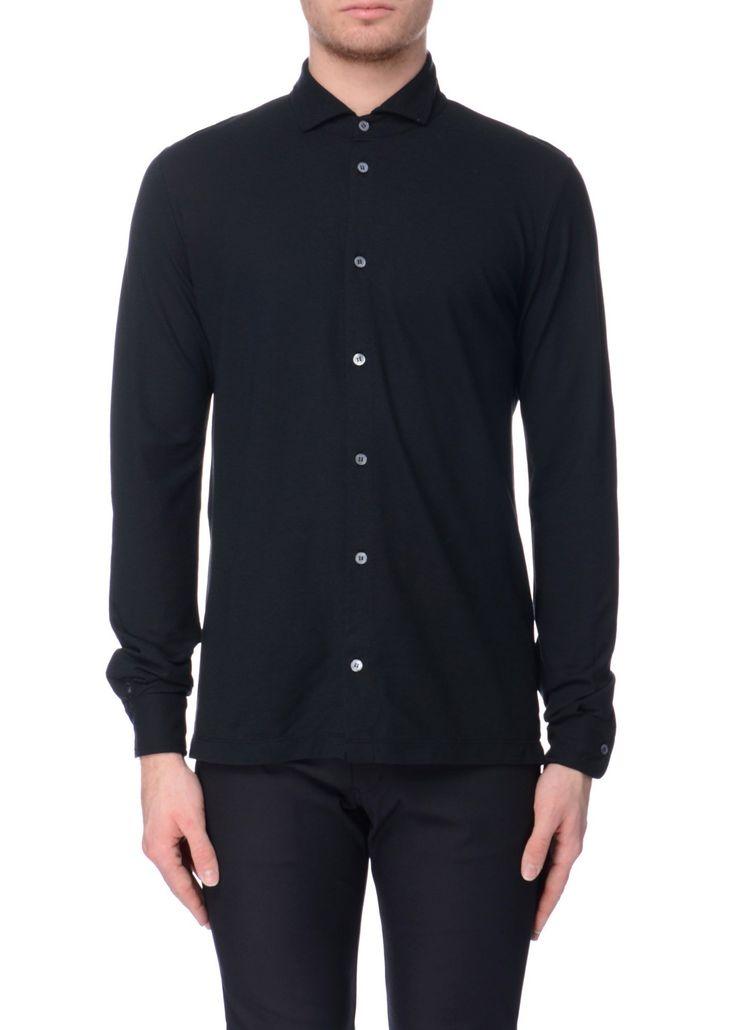Zanone - SS17 - Menswear // Black shirt in cotton