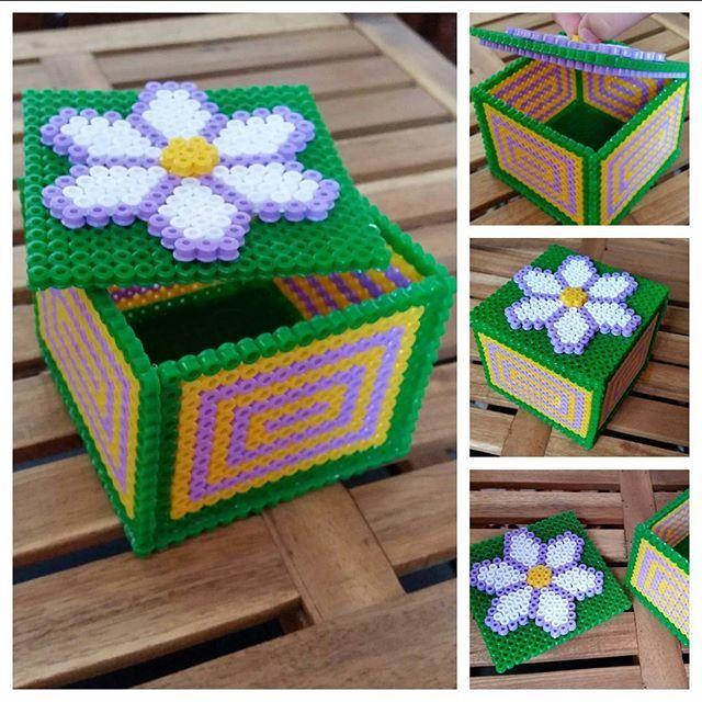 Box perler beads by  boltushechka