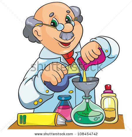 Scientist Cartoon Characters   vector illustration- cartoon character scientist in laboratory on ...