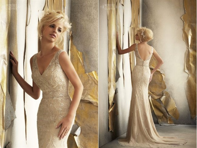 Gorgeous gold wedding gowns