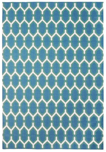 Jali Green and Blue by The Rug Company | Cotton Rug
