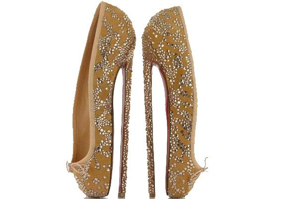"""Christian Louboutin eight-inch spiked ballet heels. """"Designed with the ballerinas in mind, the super thin spike heel is one that only the most professional dancers would be able to wear with ease,"""" LDN Fashion explains."""