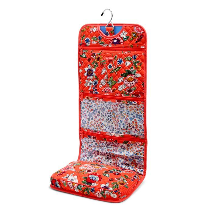 Image of Iconic Hanging Travel Organizer in Coral Floral