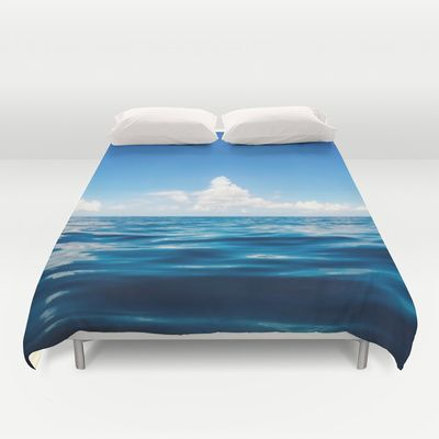 Deep Blue Duvet Cover #ocean #sea #water #waterphotography #travel #adventure #serenity #clouds #waterscape #duvet #cover