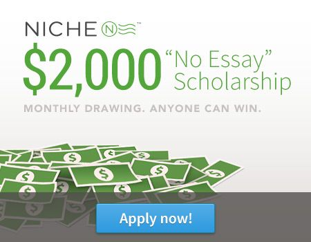 Niche 2000 no essay scholarship infoletter co