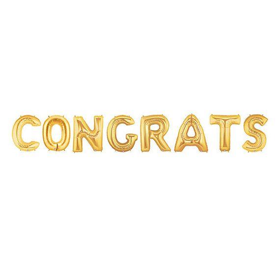 Congrats Letter Balloons Congratulations Balloon by LoveGarlands