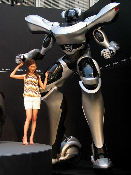 Just look at the size of this thing! Real robots | 20 Real Life Giant Robots! | SMOSH. Back in 2007 Qualis got $8mil to help US Joint Robotics Office. http://www.defenseindustrydaily.com/qualis-gets-8m-to-help-us-joint-robotics-office-02961/