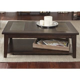Shop for Hearthstone Dark Oak and Slate Cocktail Table. Get free shipping at Overstock.com - Your Online Furniture Outlet Store! Get 5% in rewards with Club O! - 17665169