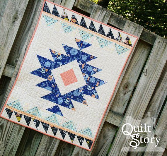PDF Modern quilt Pattern Modern Aztec Quilt Pattern: by QuiltStory