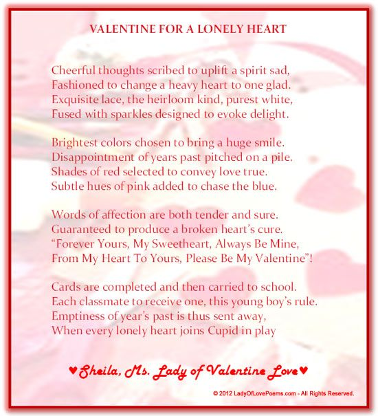 25 best ideas about Short valentines day poems – Valentine Card Poems for Him