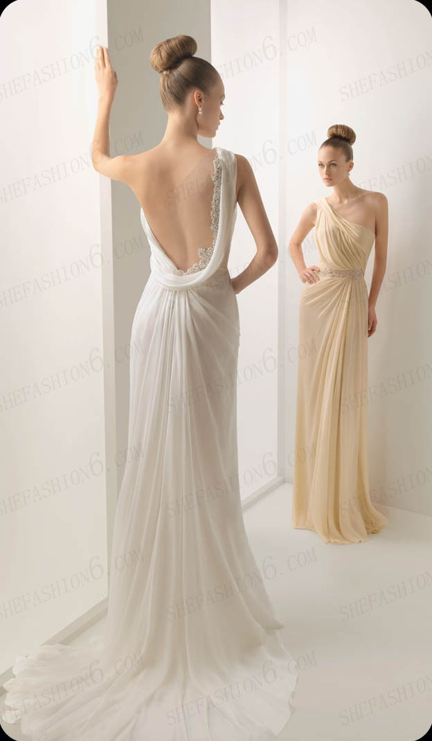 http://www.shefashion6.com  Item 2012S0001   2012 One Shoulder Backless Sweep Floor Chiffon Cocktail dress; Real top fabric, competitive price!!!