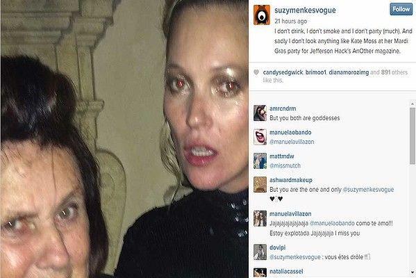 We were not convinced that Vogue's International Editor #SuzyMenkes, aka the best-known fashion journalist in the world, was really on Instagram until we saw this cute pic of her with #KateMoss. Fierce ladies.
