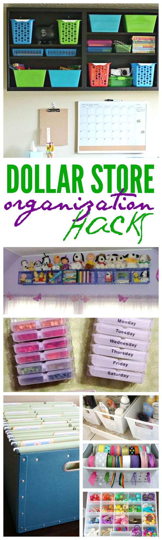dollar store organization hacks 2