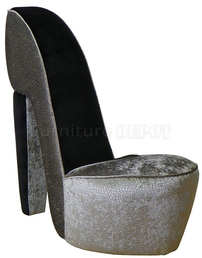 Great High+Heel+Chairs+for+Sale | Excitement Graphite Fabric Modern Stylish High