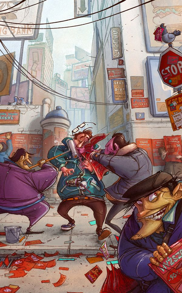 Illustration 2013 by Michal Dziekan, via Behance