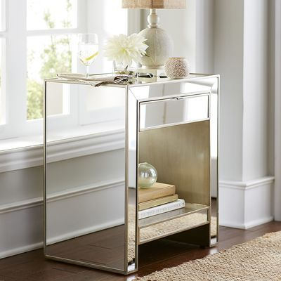 Top 25 Ideas About Mirrored Nightstand On Pinterest Mirror Furniture Mirrored Furniture And