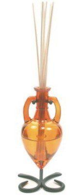 """Amber Amphora Room Diffuser Oil Bottle with Stand by Amphora Diffuser. $14.50. Width: 3.25""""   Capacity: 6.1oz / 180ml. Made from 40% recycled glass. Height: 7"""" Length: 3"""". Reed sticks not included. Room Diffusers provide a flameless air freshener and make an equally effective centerpiece.. Save 28% Off!"""