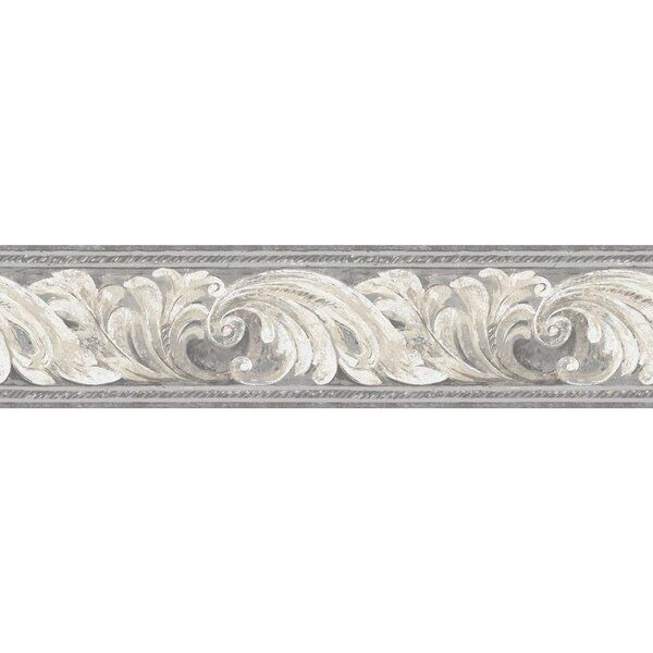 Giffin Scrolling Leaves Architectural1 25 L X 5 W Smooth Wallpaper Border York Wallpaper Wall Coverings