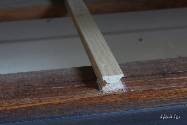 how to fix stixky wood dresser drawers