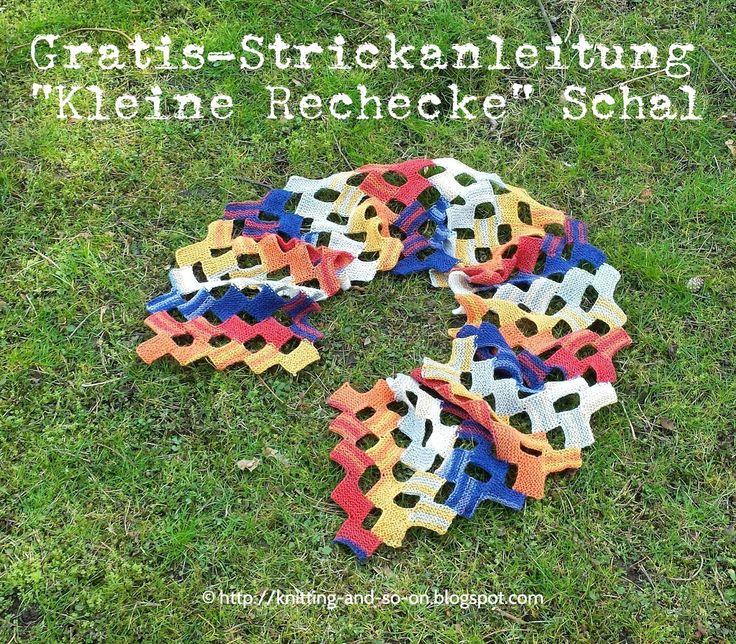 Gratis-Strickanleitung: Kleine Rechtecke-Schal