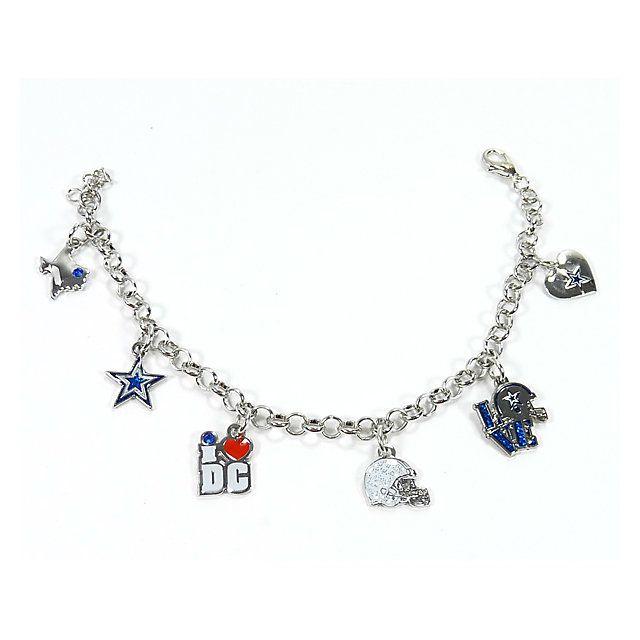 nfl dallas cowboys 6 charm bracelet at. Black Bedroom Furniture Sets. Home Design Ideas