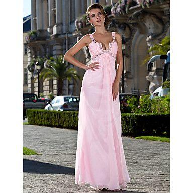 vestito da sera guaina / colonna cinghie piano di lunghezza chiffon / prom - EUR € 94.38