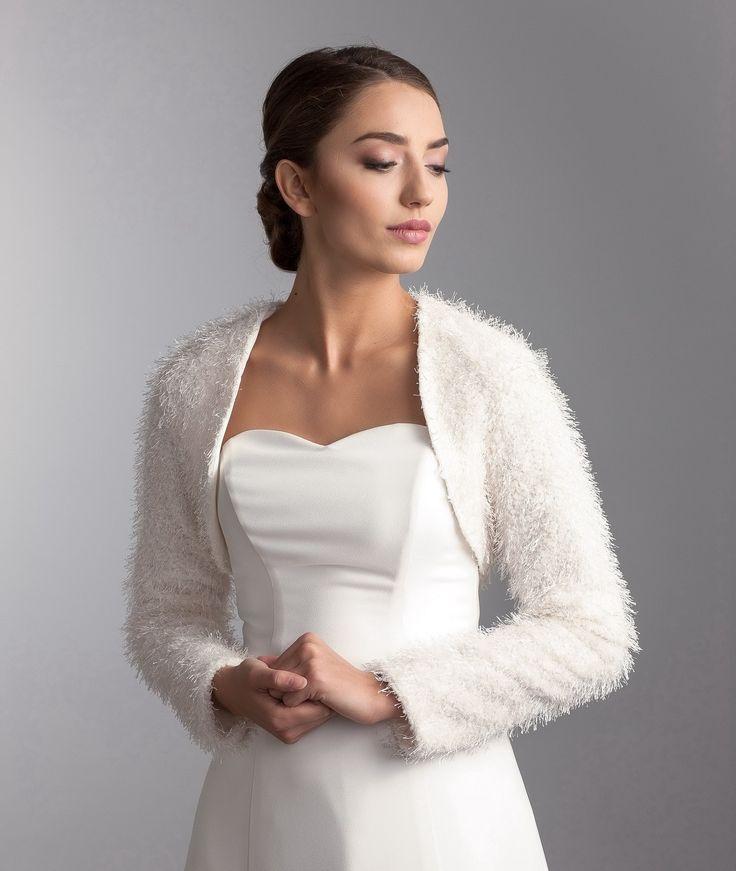 €89 Soft Jacket Winter Bruiloft Wedding Jasje Stola The Bride Bruid Ivory Bruidsjasje Bolero