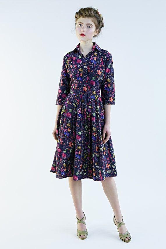 1950s dress size S  1950s party dress Shirtwaist by mrspomeranz
